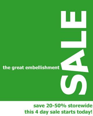 Greatembellishmentsale