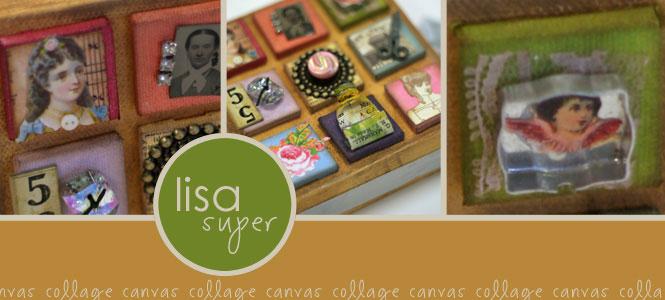 Lisa super canvas collage