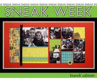 Sneak week 1 brandi