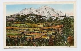 Mt. shasta post card