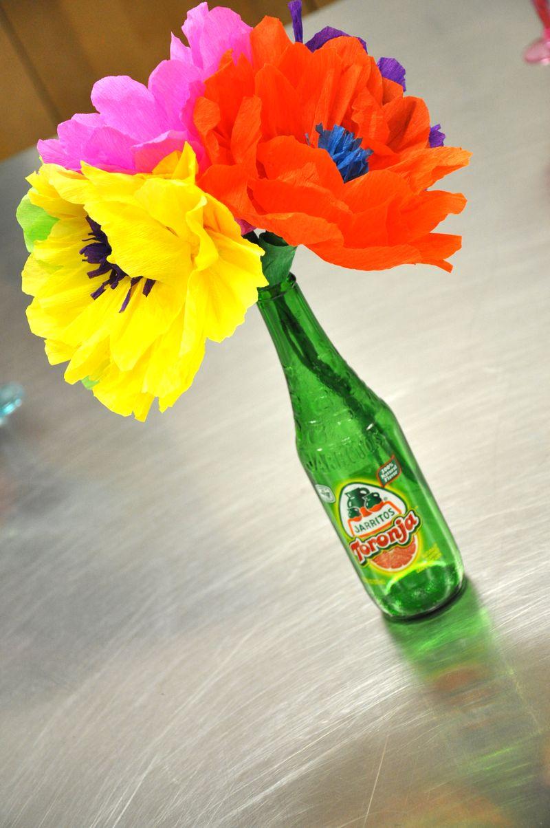 Flowers in bottle
