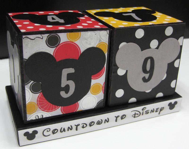 Disney count down block kit photo