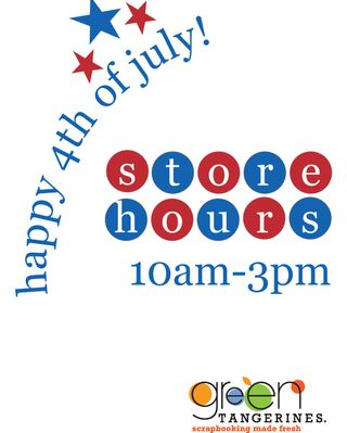 4th of july store hours 2012 for blog