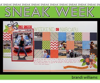 Sneak week aug