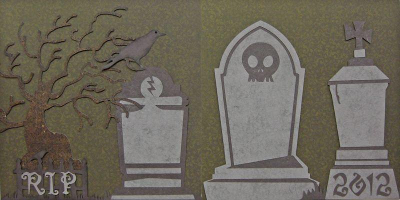 Cricut halloween grave yard