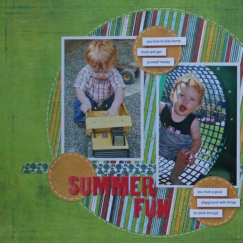 Summer Fun June calendar single